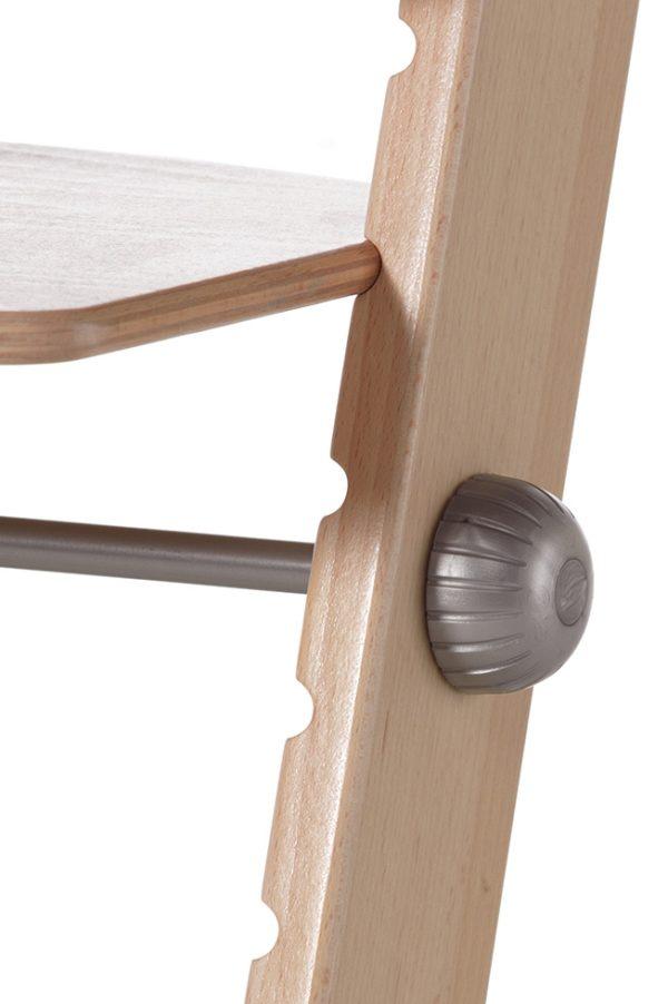 Scaun inalt - inaltime variabila - bebe cresa gradinita - lemn natur