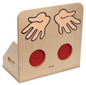Tactile box wood - Cutia de lemn tactila