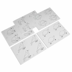 Animal Puzzle: Copy Masters-produs original Nienhuis Montessori-prin Didactopia by Evertoys