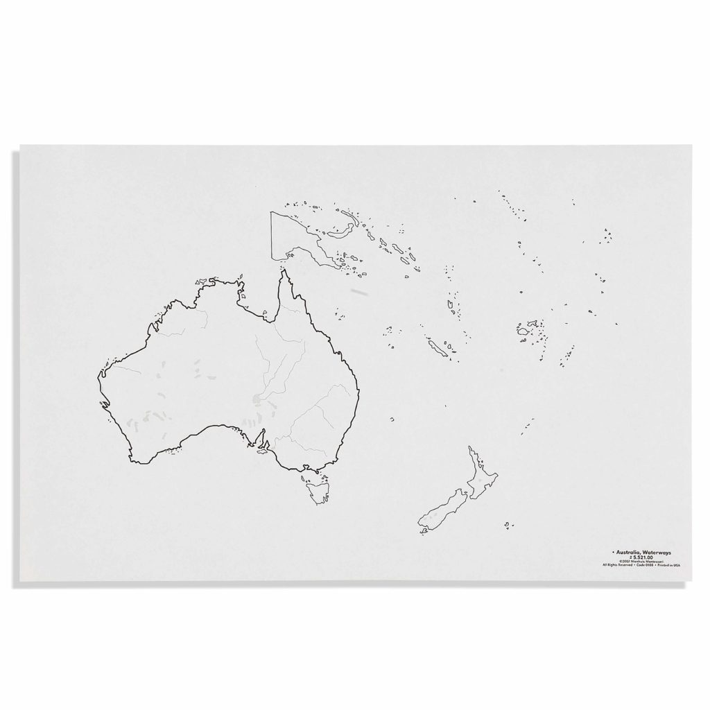 Australia: Waterways (50)-produs original Nienhuis Montessori-prin Didactopia by Evertoys