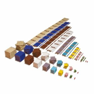 Bead Material: Individual Beads (Glass)-produs original Nienhuis Montessori-prin Didactopia by Evertoys