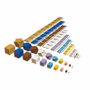 Bead Material: Individual Beads (Nylon)-produs original Nienhuis Montessori-prin Didactopia by Evertoys