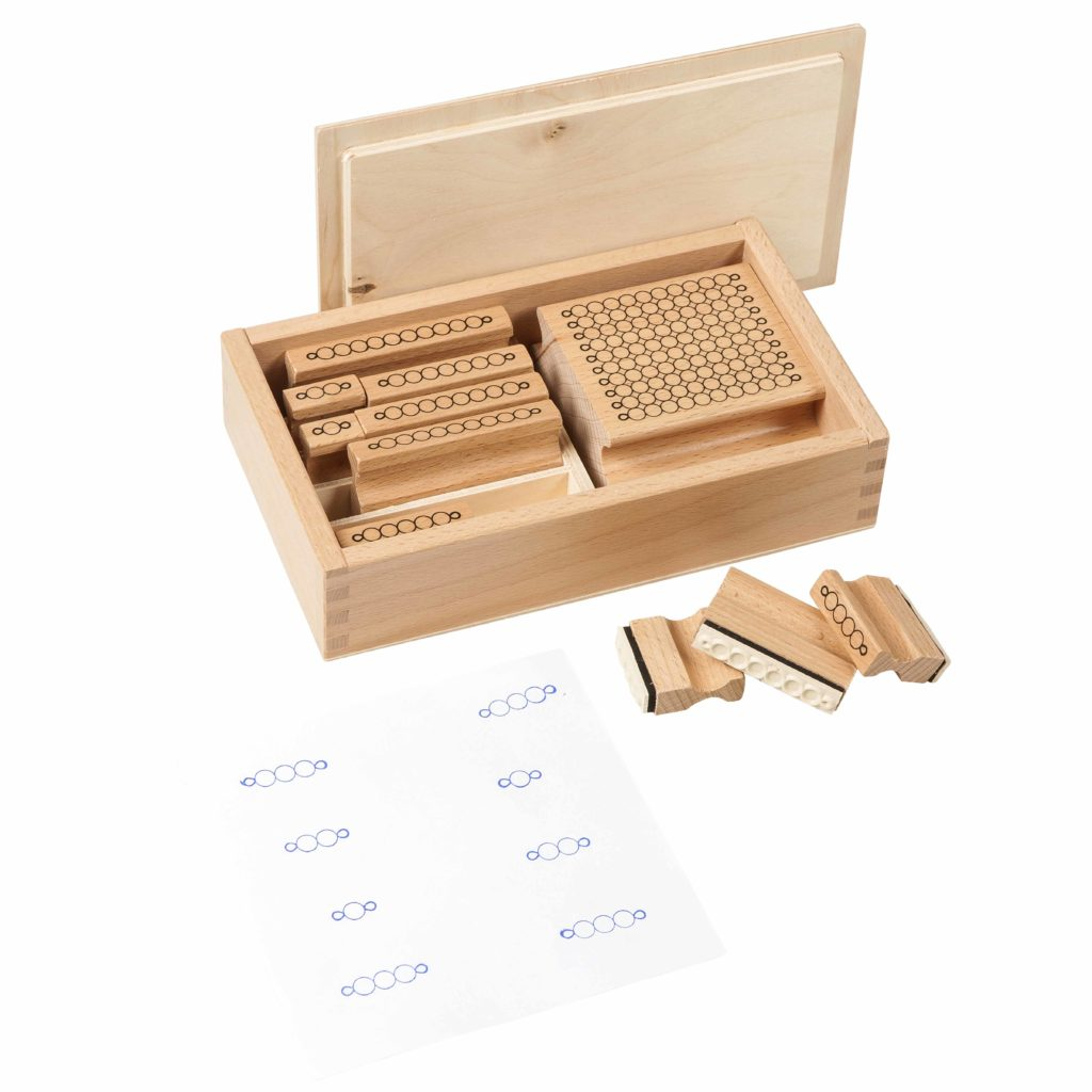 Bead Stamps-produs original Nienhuis Montessori-prin Didactopia by Evertoys