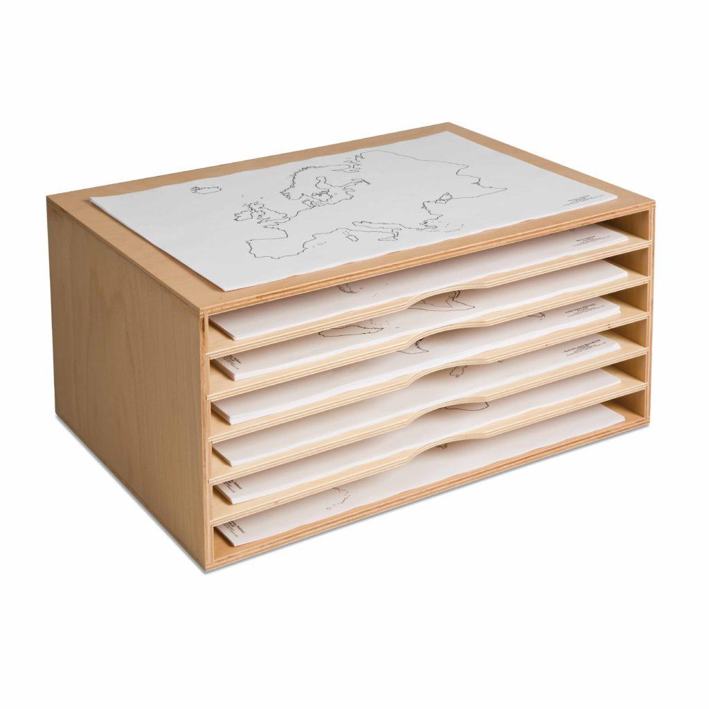 Cabinet For Paper Maps-produs original Nienhuis Montessori-prin Didactopia by Evertoys