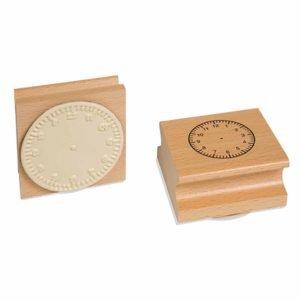 Clock Stamp: 12 Hour-produs original Nienhuis Montessori-prin Didactopia by Evertoys