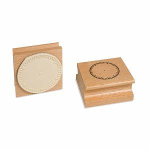 Clock Stamp: Blank-produs original Nienhuis Montessori-prin Didactopia by Evertoys