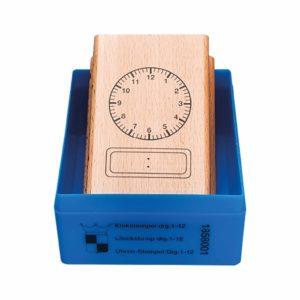 Clock stamp analogue - digital 12 hours-produs original Nienhuis Montessori-prin Didactopia by Evertoys