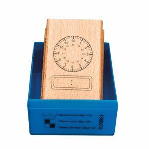 Clock stamp analogue - digital 24 hours-produs original Nienhuis Montessori-prin Didactopia by Evertoys
