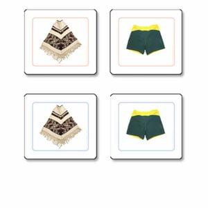 Clothes Matching Cards-produs original Nienhuis Montessori-prin Didactopia by Evertoys