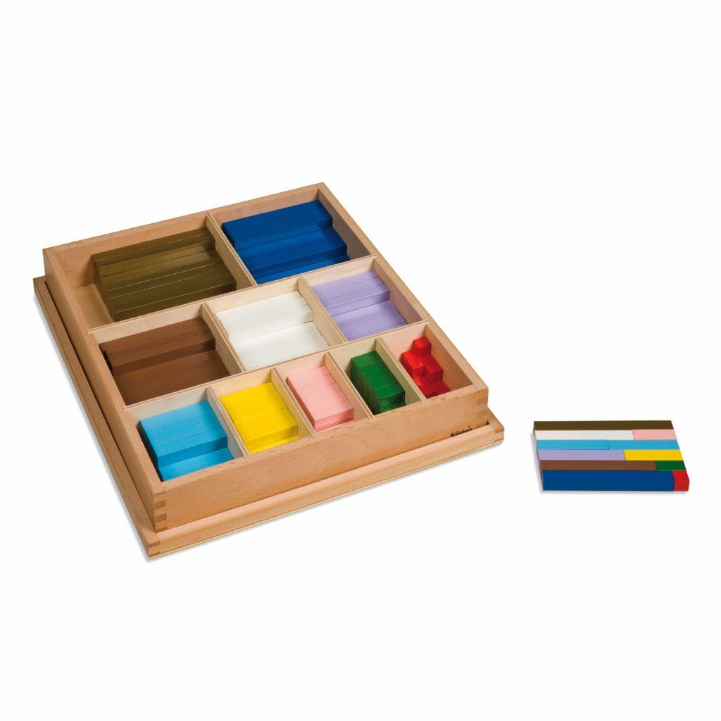 Colored Counting Bars-produs original Nienhuis Montessori-prin Didactopia by Evertoys