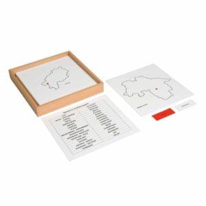 Control Maps Puzzle Map Germany (German version)-produs original Nienhuis Montessori-prin Didactopia by Evertoys