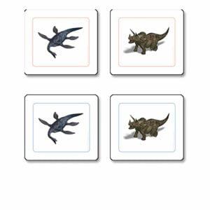 Dinosaur Matching Cards-produs original Nienhuis Montessori-prin Didactopia by Evertoys