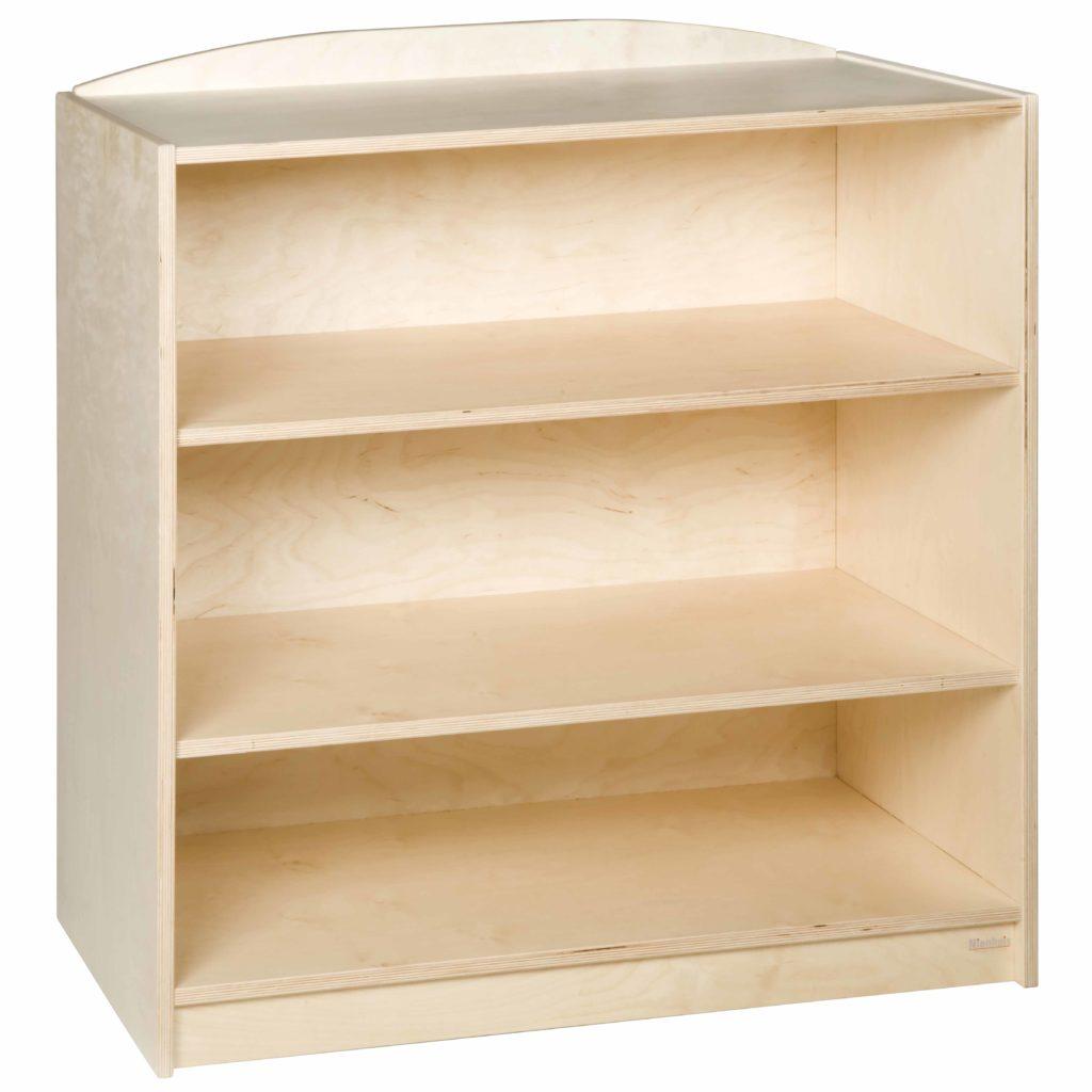 End Cabinet: 3 Straight Shelves (101 cm)-produs original Nienhuis Montessori-prin Didactopia by Evertoys