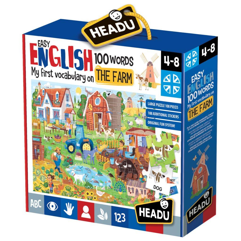 Engleza Nivel Simplu - 100 Cuvinte - Ferma - Headu - prin Didactopia by Evertoys