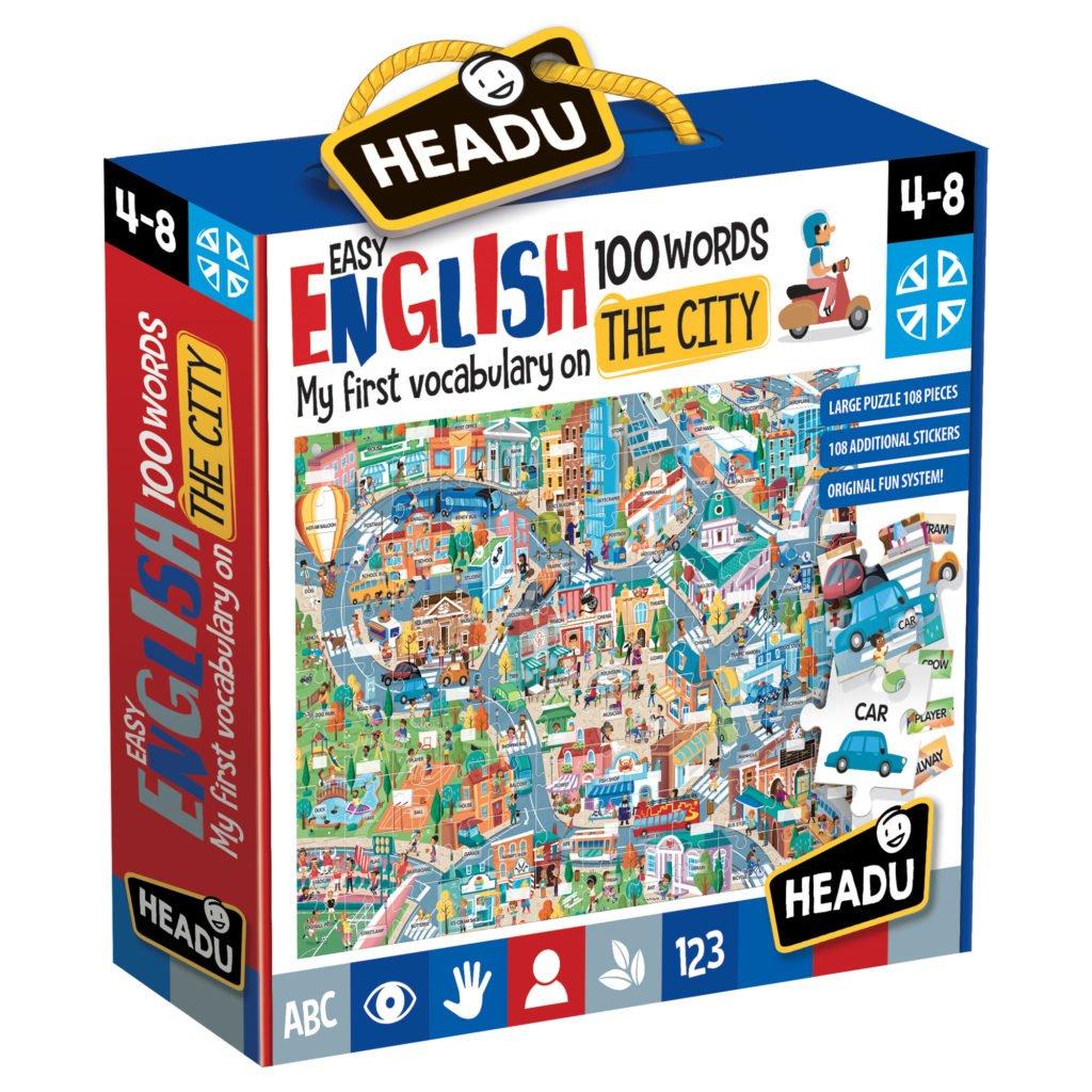 Engleza Nivel Simplu - 100 Cuvinte - Orasul - Headu - prin Didactopia by Evertoys