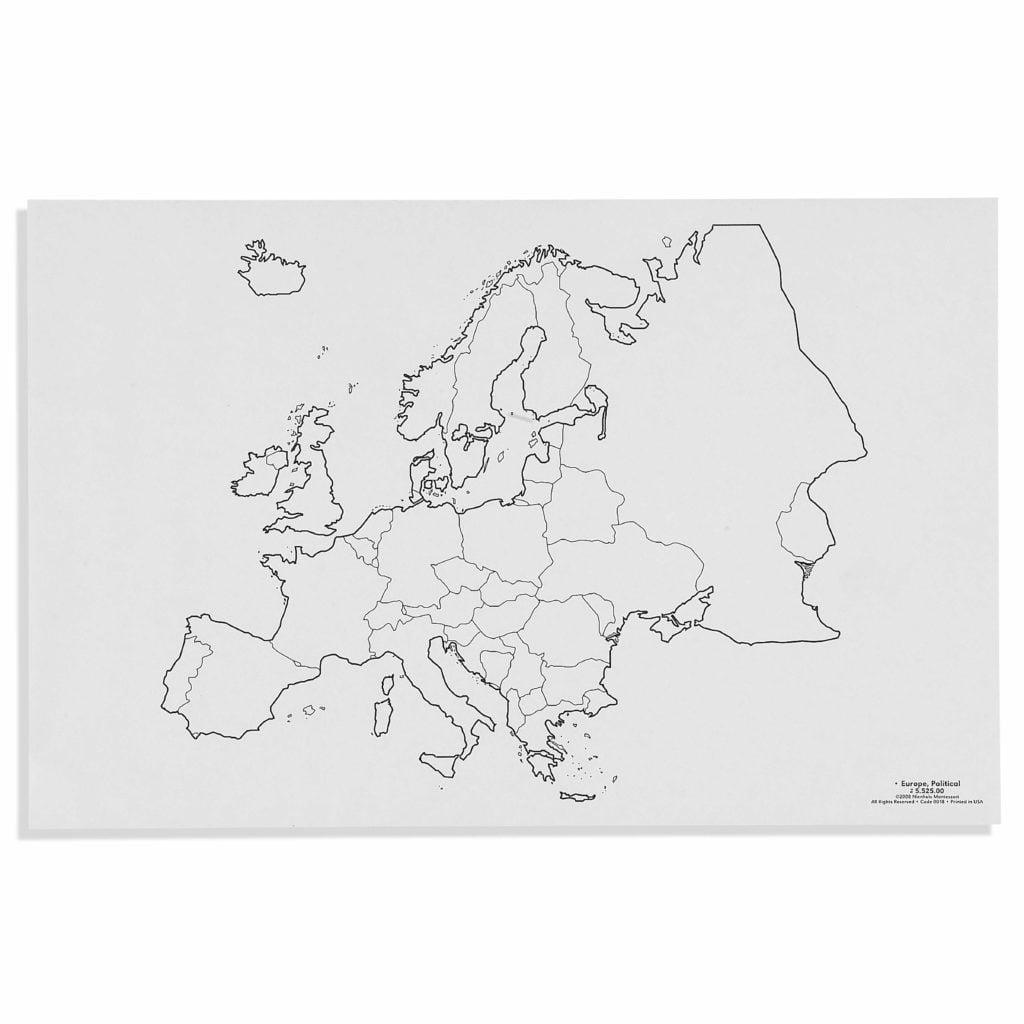 Europe: Political (50)-produs original Nienhuis Montessori-prin Didactopia by Evertoys