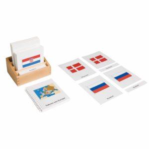 Flags Of Europe (German version)-produs original Nienhuis Montessori-prin Didactopia by Evertoys
