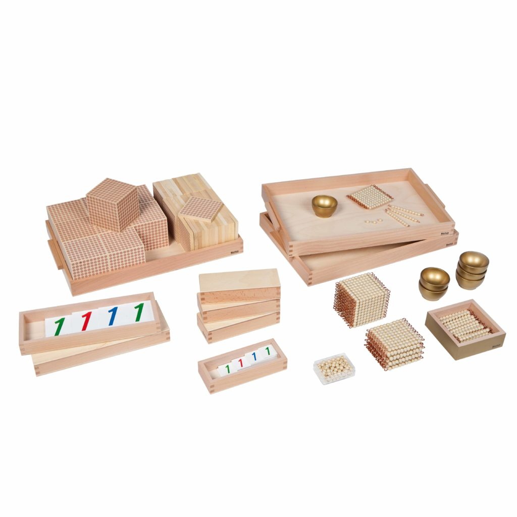 Golden Bead Material: Individual Beads (Glass)-produs original Nienhuis Montessori-prin Didactopia by Evertoys