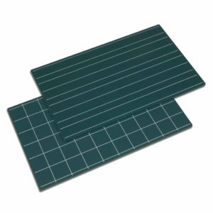 Greenboards With Double Lines And Squares: Set Of 2-produs original Nienhuis Montessori-prin Didactopia by Evertoys