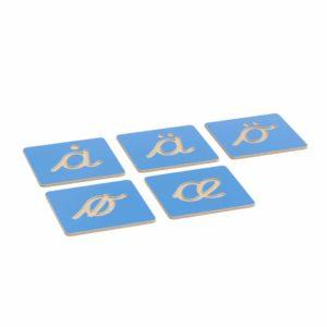 Hollow Letter Shapes: Nordic Cursive - Supplement Set-produs original Nienhuis Montessori-prin Didactopia by Evertoys
