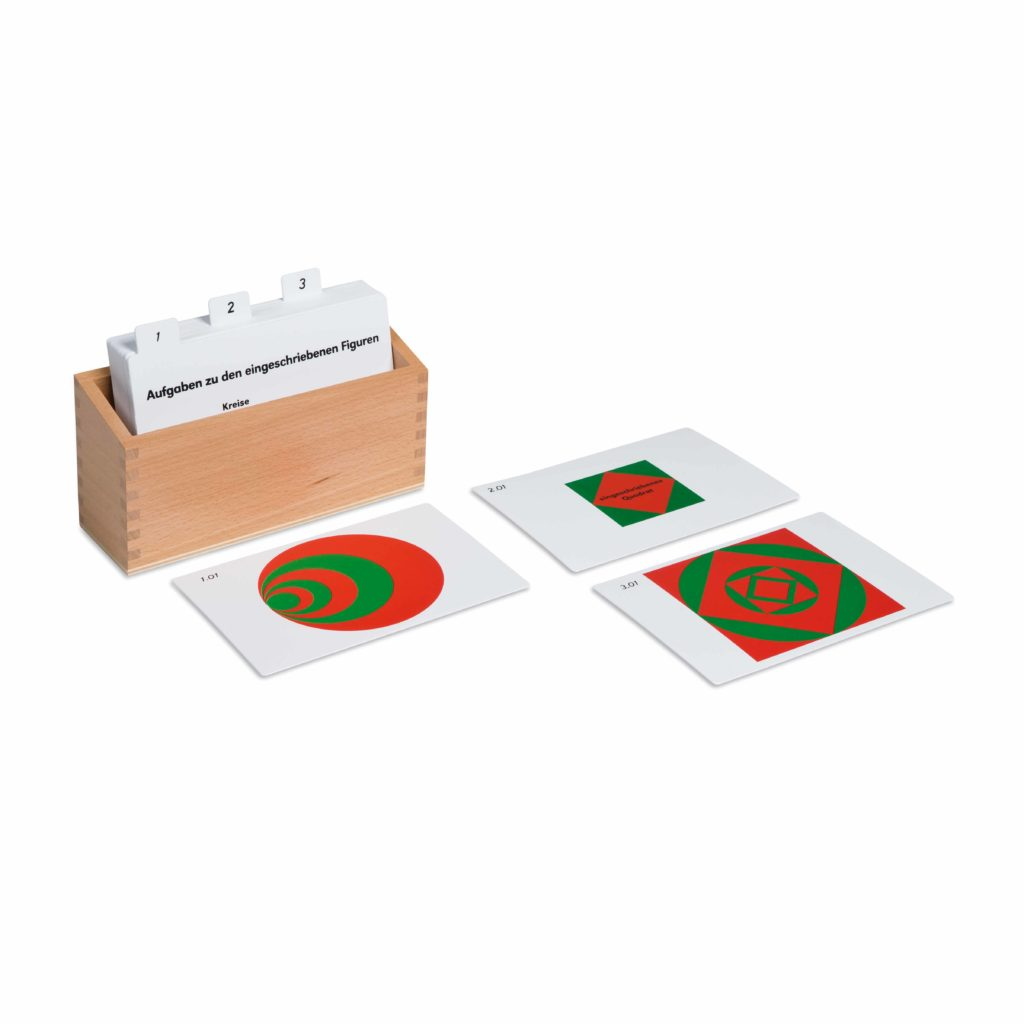 Inscribed And Concentric Figures Activity Set (German version)-produs original Nienhuis Montessori-prin Didactopia by Evertoys