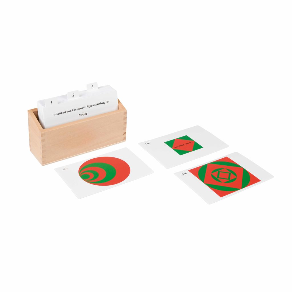 Inscribed And Concentric Figures Activity Set-produs original Nienhuis Montessori-prin Didactopia by Evertoys
