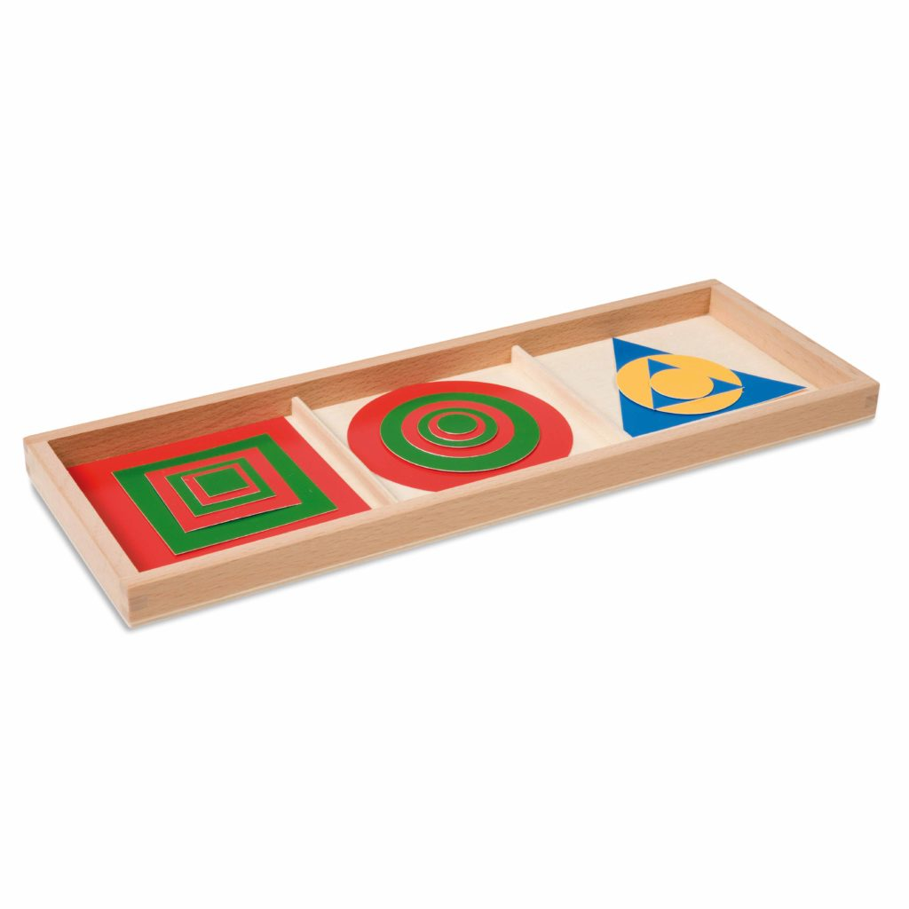 Inscribed And Concentric Figures: Plastic-produs original Nienhuis Montessori-prin Didactopia by Evertoys