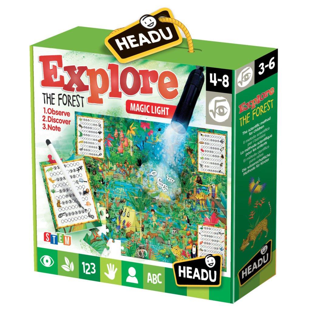 Joc Explorati Padurea - Headu - prin Didactopia by Evertoys