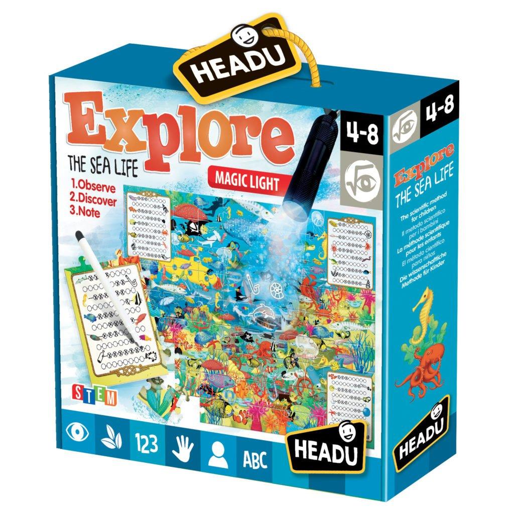 Joc Explorati Viata Marina - Headu - prin Didactopia by Evertoys