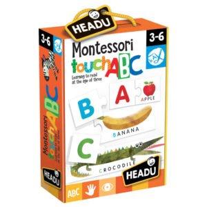 Joc Tactil Montessori Abc - Headu - prin Didactopia by Evertoys