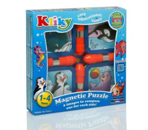 Kliky Puzzle Magnetic Animale Marine - Supermag - prin Didactopia by Evertoys