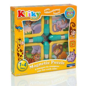 Kliky Puzzle Magnetic Animale Safari - Supermag - prin Didactopia by Evertoys