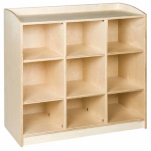 Material Cabinet: 9 Compartments (101 cm)-produs original Nienhuis Montessori-prin Didactopia by Evertoys