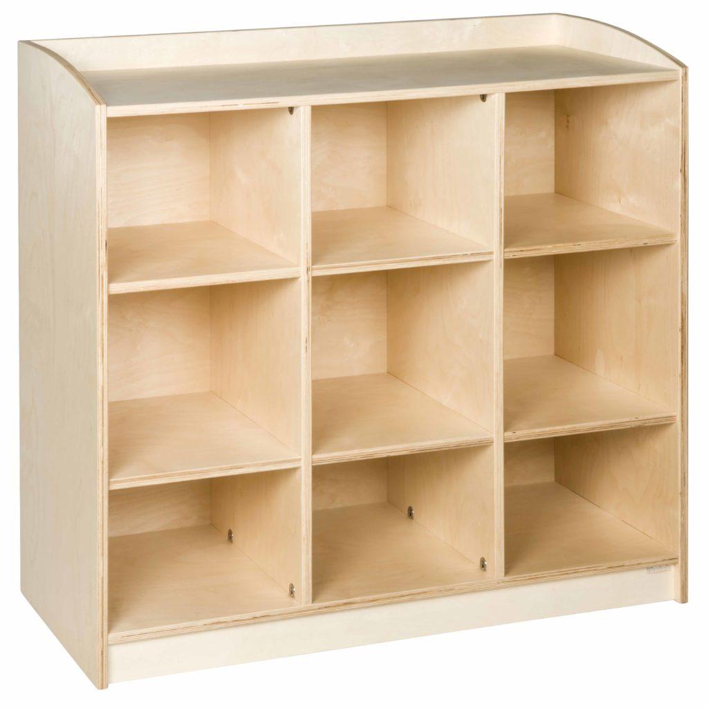 Material Cabinet: 9 Compartments (101 cm)-produs original Nienhuis Montessori-prin Didactopia by Evertoys