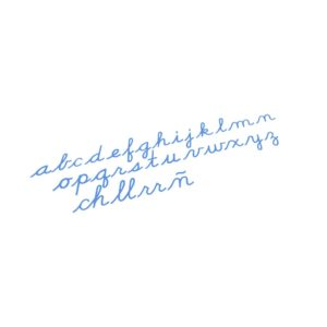 Medium Movable Alphabet: US Cursive – Blue-produs original Nienhuis Montessori-prin Didactopia by Evertoys