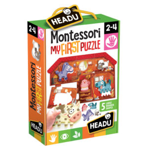 Montessori Primul Meu Puzzle - Ferma - Headu - prin Didactopia by Evertoys