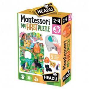 Montessori Primul Meu Puzzle - Jungla - Headu - prin Didactopia by Evertoys