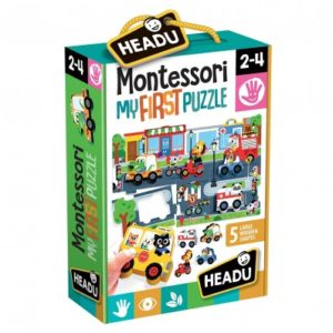 Montessori Primul Meu Puzzle - Oras - Headu - prin Didactopia by Evertoys