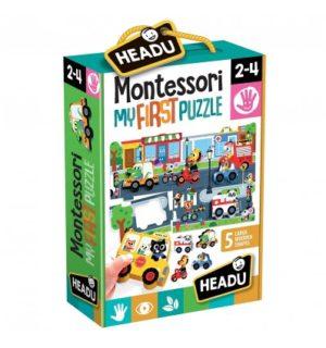 Montessori Primul Meu Puzzle - Oras - Headu - prin Didactopia by Evertoys