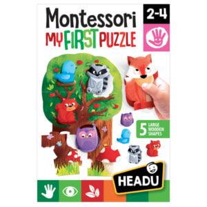 Montessori Primul Meu Puzzle-Padure - Headu - prin Didactopia by Evertoys