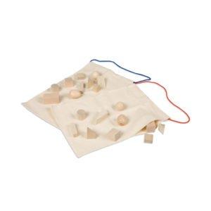 Mystery Bags: Geometric Shapes-produs original Nienhuis Montessori-prin Didactopia by Evertoys