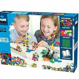 Plus Plus Basic/Neon -600 Piese/Set - Plus Plus - prin Didactopia by Evertoys