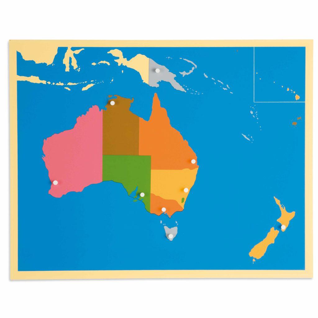 Puzzle Map: Australia-produs original Nienhuis Montessori-prin Didactopia by Evertoys
