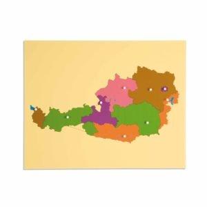 Puzzle Map: Austria-produs original Nienhuis Montessori-prin Didactopia by Evertoys