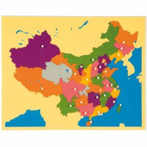 Puzzle Map: China-produs original Nienhuis Montessori-prin Didactopia by Evertoys