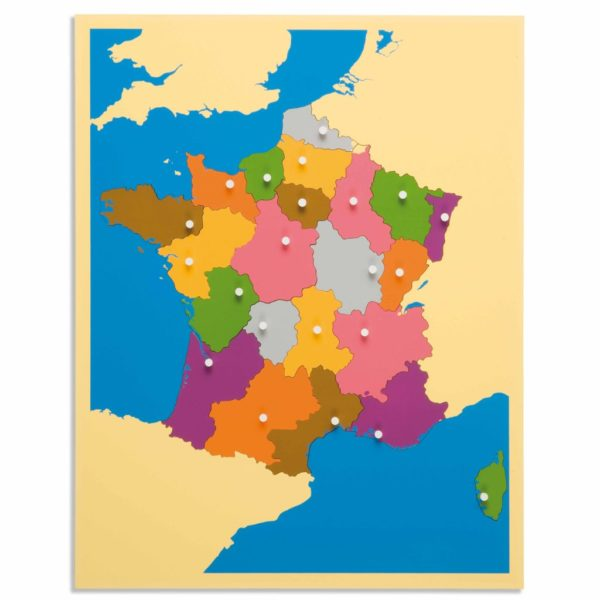 Puzzle Map: France-produs original Nienhuis Montessori-prin Didactopia by Evertoys