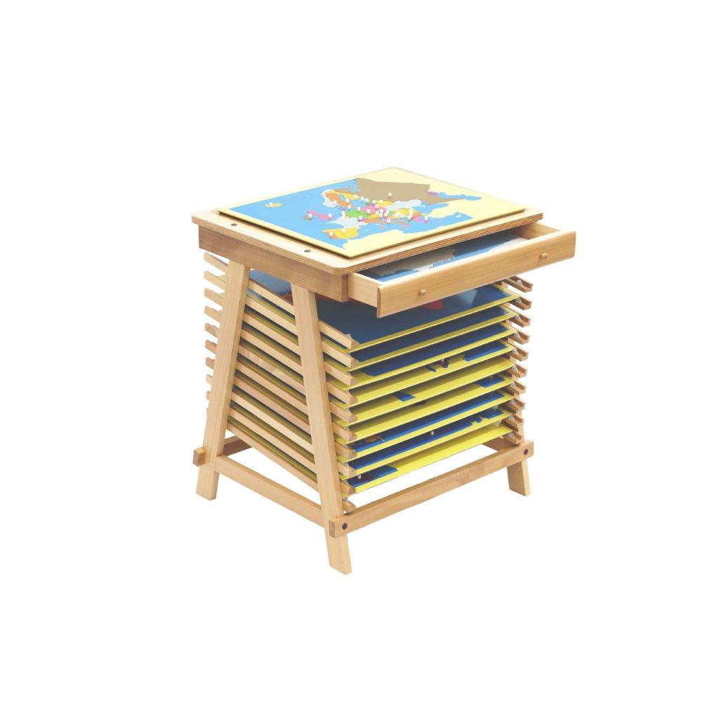 Puzzle Map Stand-produs original Nienhuis Montessori-prin Didactopia by Evertoys