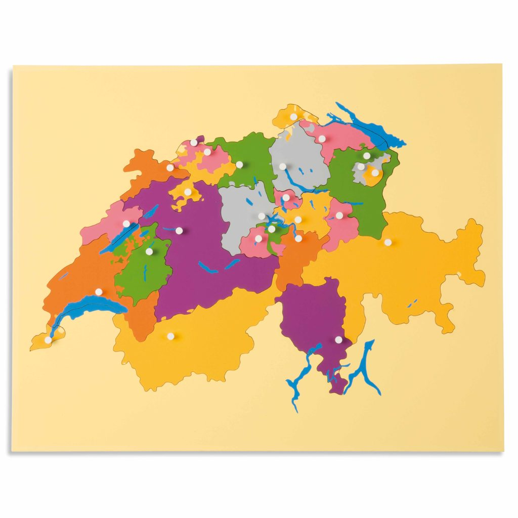 Puzzle Map: Switzerland-produs original Nienhuis Montessori-prin Didactopia by Evertoys