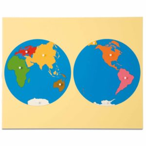 Puzzle Map: World Parts - Asia View-produs original Nienhuis Montessori-prin Didactopia by Evertoys