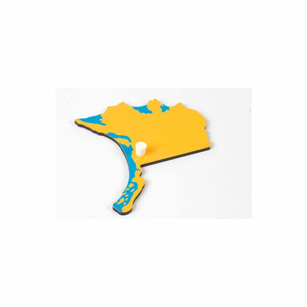 Puzzle Piece Of North America: Alaska-produs original Nienhuis Montessori-prin Didactopia by Evertoys